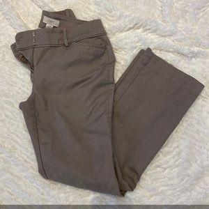 Womens Anne Taylor Khaki Pants Size 0 Petite